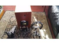 Session Pro Cajon & Gibraltar Cajon Foot Pedal with Tambourine and Percussion Mount