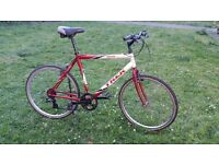 Vintage Red and white trek 800 sport 21in frame
