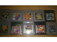 gameboy and gameboy colour rare game carts