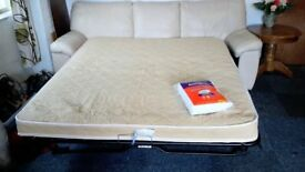 Large Leather Sofa Bed and footstool 108 ~ Can Deliver (Available )