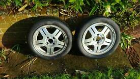 2 Ford wheels and tyres 195/50 MUST GO