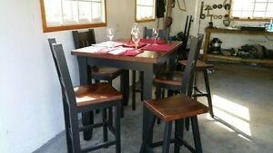Pub style dining set