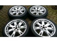 FORD RR 18 INCH ALLOY WHEELS NEW TYRES 5X108 FOCUS ST RS MONDEO ZETEC S TITANIUM X CONNECT VOLVO