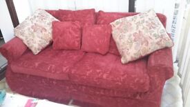 3 seat sofa excellent condition with removable washable covers collect lyme regis £100