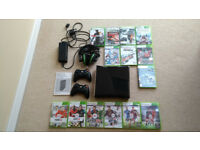 XBOX 360 Elite 250 Gb Bundle with 2 Controllers, Headset plus many Games including FIFA, Halo Reach