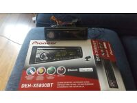 Pioneer car stereo with USB and bluetooth