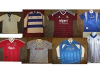 Wanted Football Shirts From The 1970's Onwards
