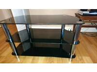 Black coffee table and tv unit