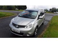 NISSAN NOTE 1.4 N-TEC PLUS,2012,Alloys,Air Con,Sat Nav,Park Sensors,Cruise,Half Leather,36,000mls,
