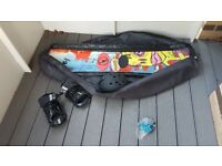HEAD IGNITION ROCKA SNOWBOARD with helmet and shoes