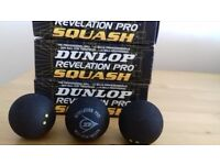 New dunlop squash balls in boxes