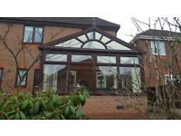 Conservatory - Brown UPVC In/Out 3.4m x 3.8m - Available 25th March