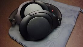 Sony h.ear on MDR 100AAP Black wired stereo headphones