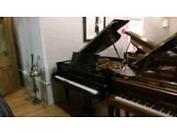 Welmar Black Baby Grand Piano by Sherwood Phoenix Pianos