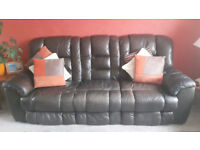 Leather sofa set 3seater/2seater/1seater - Collection only