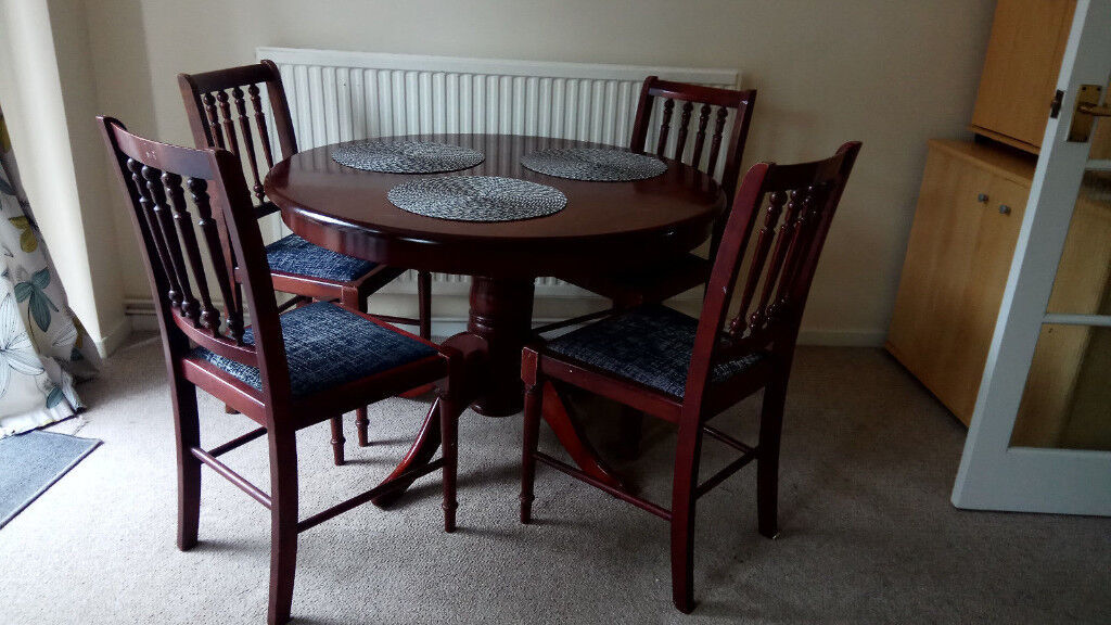 Round Dining Table For 4 | Details About Beautiful Round Dining Table With 4 Chairs In