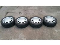 VW 195/50/15 ALLOY WHEELS (NO 2), MIGHT FIT GOLF, BEATLE ETC