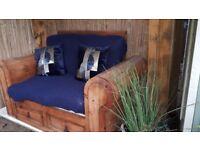 Stunning wooden seat.. bench..