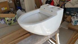 Toilet base - unusual art-deco shape