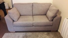Fabric Beige 6 month old 2 seater Sofa