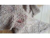 Cream roll-neck knitted jumper