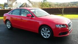 April 2008 audi a4 se deisel red moted newer model £4495