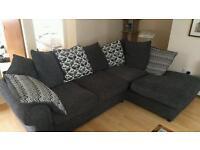 Dark Grey Corner Sofa, Nearly New