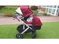 double buggy/pram 2017 uppababy vista nearly new