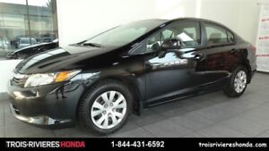 2012 Honda Civic LX Garantie Global 7ans/130 000km