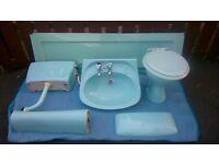 Vintage turquoise armitage shanks bathroom suite