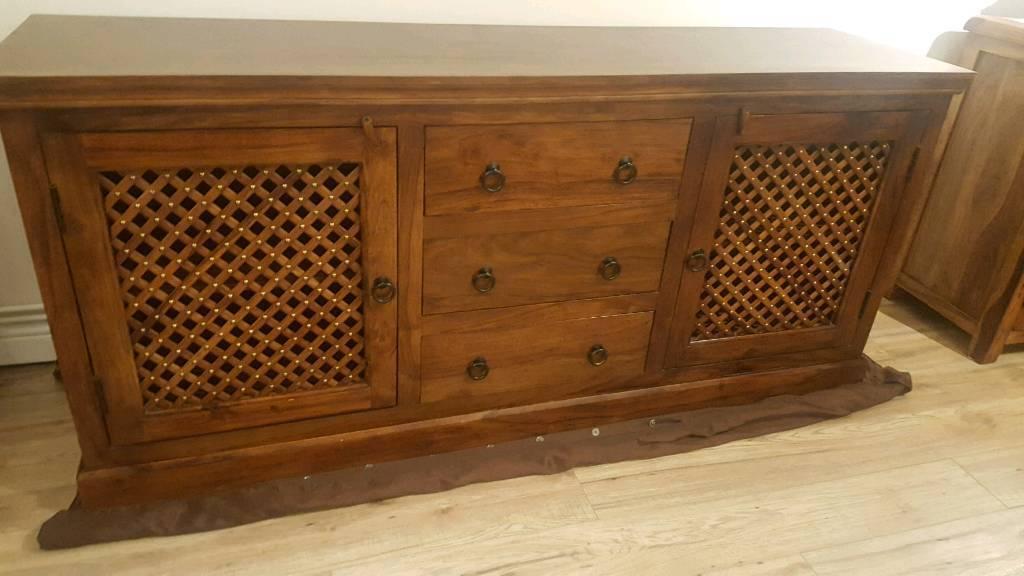 Solid Oak Sheesham Sideboard Extra Large In Ribbleton Lancashire