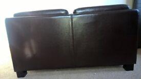 brown leather storage unit