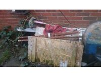 I need rubbish uplifted, mostly bags wood and small garden table