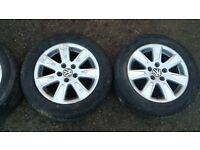 VW 215/55/16 ALLOY WHEELS (NO 1),MIGHT FIT AUDI, SCODA ETC