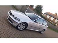 2004 (04) BMW 3 SERIES E46 325ti SE 2.5L PETROL MANUAL 3DR COMPACT P.S.H MOT SEP 17 HALF LEATHER INT