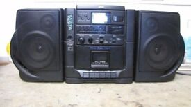 JVC PCX 55 PORTABLE RADIO / CASSETTE / CD PLAYER