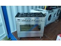 """Stainless Steel """"DeLoghi"""" 6 burner Range cooker - Good, clean condition / free local delivery"""