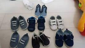 Range of baby shoes all infant sizes.