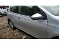 Vw golf mk6 offside front door 3dr la7w silver 09-13