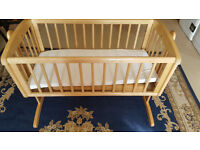 Mothercare Baby Swinging Crib With Mattress
