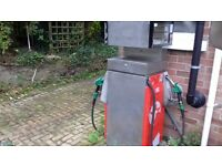 Gilbarco petrol pump, forecourt diesel pump, garage shed.