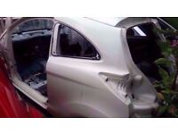 2009-2016 FORD KA NSR PASSENGERS SIDE REAR QUARTER PANEL CUT OUT IN WHITE
