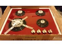 Brand new Necht 60 cm gas hob 4 burner gas hob glass red colour