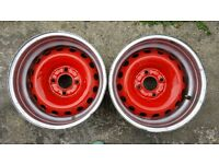 Wide rims 13'' x 8'' with 4x100