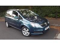 2007/56 Vauxhall Zafira Club 1.6 5G 7 Seater Years Mot Turquoise Bluetooth Aux Usb AC
