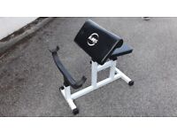 HEAVY DUTY STEEL ARM CURL PREACHER WEIGHTS BENCH