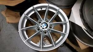 "BMW 3 series 16x7, 5 spoke, V spoke, OEM 16""  alloy rims"
