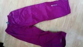 Pink waterproof trousers