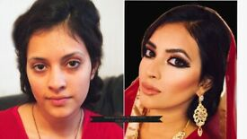 Asian Bridal/Party Makeup and Hair. Trial £25, Limited Time. Click to See Before and After Photos.