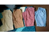 4 X mens chinos all size 38r and all like new !